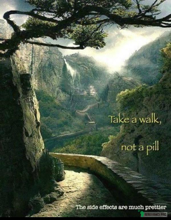 Idź na spacer, zamiast łykać tabletkę –