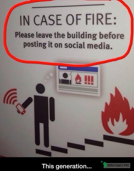 W razie pożaru, proszę opuścić budynek przed opublikowaniem tego na FB –