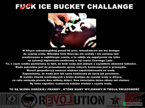 STOP ICE BUCKET CHALLANGE –